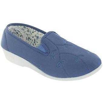 Mirak kvinner Bessie Twin kile lerret slip on Shoe