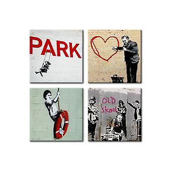 طباعة قماش أرتجيست بانكسي الحضري الإلهام