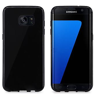 Samsung S7 Edge Case Silicone Black - CoolSkin