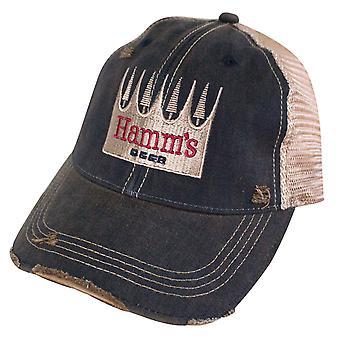 Hamm ' s bier logo retro merk bruin mesh trucker hoed