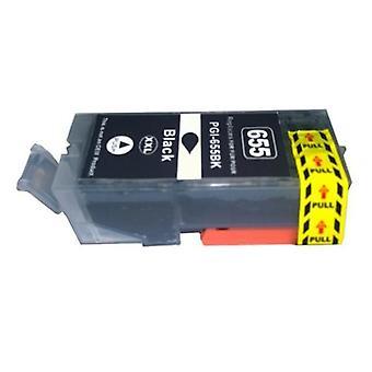 PGI-655XXL pigmentti musta yhteensopiva kasetti