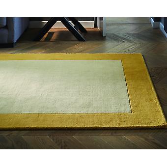Gränsar ockra rektangel mattor Plain/nästan vanligt mattor