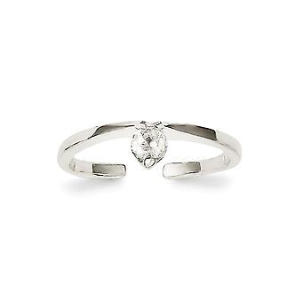 925 Sterling Silber solid CZ Zirkonia simuliert Diamant Toe Ring Schmuck Geschenke für Frauen