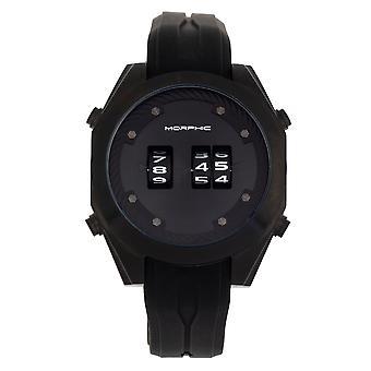 Morphic M76 Series Drum-Roll Strap Watch - Black