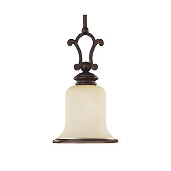 Sea Gull Lighting 61145-814 Acadia 1-Light Mini Pendant Misted Bronze Finish