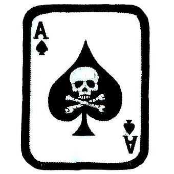Patch Ecusson As Pic Ace Of Spaldes Airsoft Biker Military Weapon Skull Nine