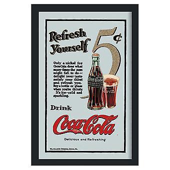Coca-Cola - Spegeltavla / Pubspegel / Barspegel - Refresh yourself