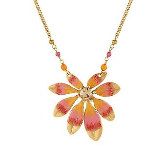Eternal Collection Biarritz oranssi emali kulta sävy Statement kaula koru