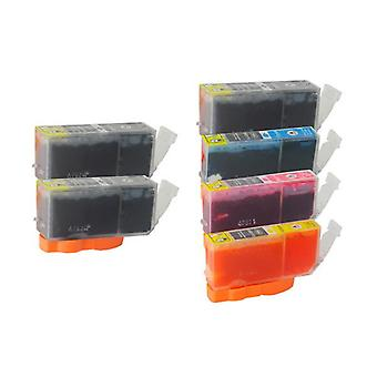 PGI-5 CLI-8 Compatible Inkjet Cartridge Set  6 Ink Cartridges