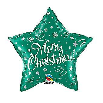 Qualatex Star-shaped Christmas Foil Balloon