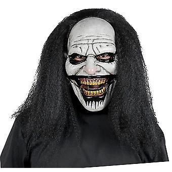 Sweet Dreams Clown Horror Joker Sinister Creepy Mens Costume Overhead Mask Hair