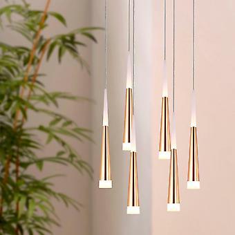 COMET 6 Mini Pendant Lighting Brass - LED Hanging Light Fixture