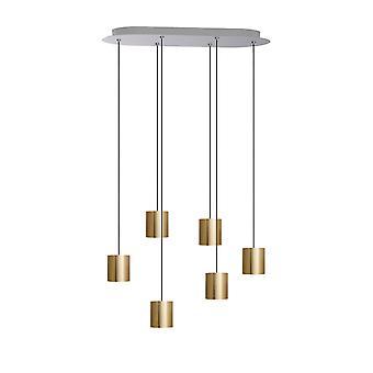 Lyra 6 Mini Pendant Lighting Brass