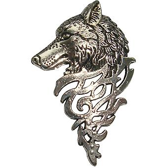 Bassin e Brown Wolf Lapel Pin - Prata