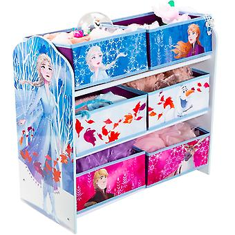 Frozen Wooden Shelf with Fabric Containers