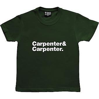 The Carpenters Line-Up Racing Green Kids' T-Shirt