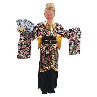 Girls Geisha Girl Fancy Dress Costume
