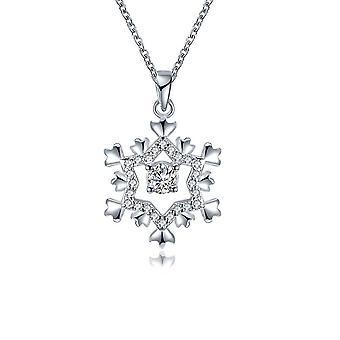 Naisten Snowflake kaulakoru koristeltu Swarovski Valkoinen kristalli