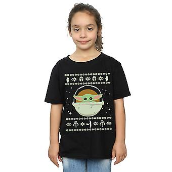 Star Wars Girls The Mandalorian The Child Christmas T-Shirt