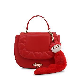 الحب موسكينو المرأة & أبوس وحقيبة يد - jc4083pp18lo، أحمر