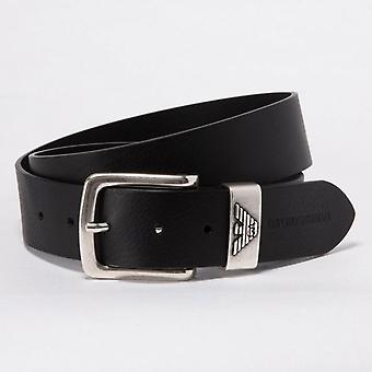 Belt - Emporio Armani - Leather - Sigl e Closure