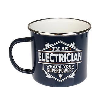Histoire et Héraldique Électricien Tin Mug 20