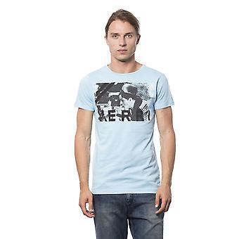 T-shirt voor lichtblauwe korte mouwen heren