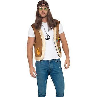 Hippie Weste, Unisex Adult braun