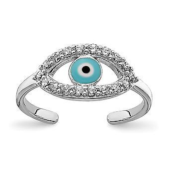 925 plata esterlina Rhodium plateado esmaltado y CZ Zirconia cúbica simulada diamante ojo ojo anillo joyería regalos para las mujeres