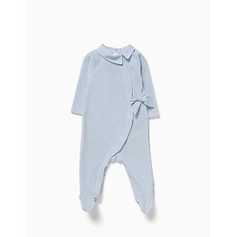 Zippy Babygrow Velvet Bow Blue