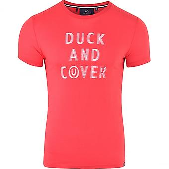 Duck and Cover Duck And Cover Mens Original Logo Printed Short Sleeved Cotton Crew Neck T Shirt