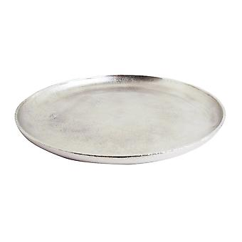 Light & Living Dish 35cm Bode Raw Nickel
