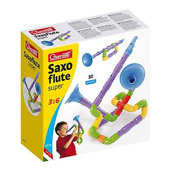 Quercetti Super Saxoflute Musical Building Toy 30PC STEAM Toy Ages 3-6 Years