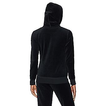Starter Women's Velour Track Jacket with Hood,  Exclusive, Black, Small