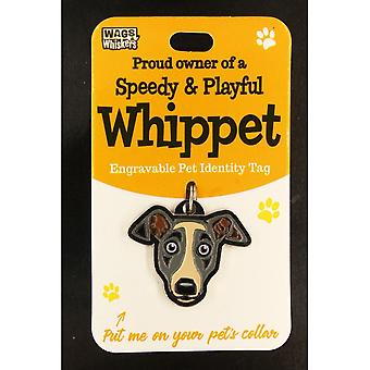 Wags & Whiskers Pet Identity Tag -whippet