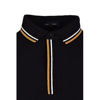 Fred Perry Tipped Placket Polo Shirt Black