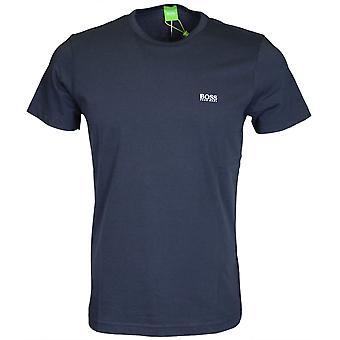 Hugo Boss Tee bawełny wokół szyi Navy T-shirt