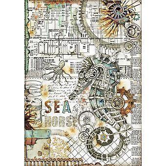 Stamperia Rice Paper A4 Seahorse