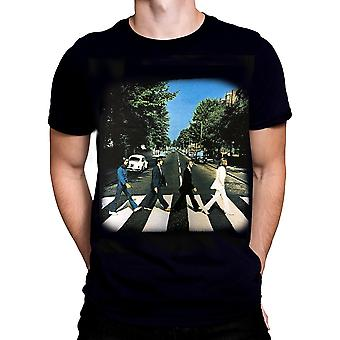 Rock off - the beatles abbey road - mens t-shirt