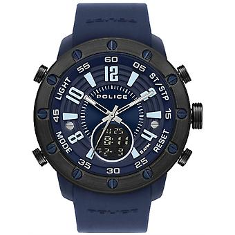 Police watches batur watch for Analog/Digital Quartz Men with Silicone Bracelet PL.16015JPBLU-03P