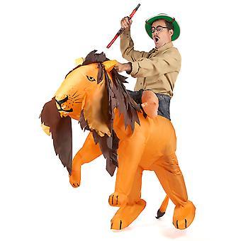 Déguisement lion gonflable adulte
