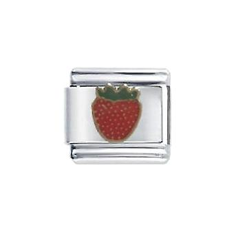 Emaille Strawberry Edelstahl Italian Charm