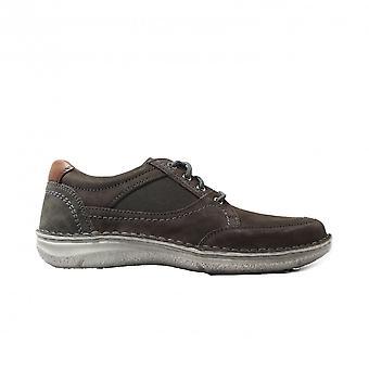 Josef Seibel Anvers 40 Beige Nubuck/Textile Mens Wide Fit Lace Up Shoes
