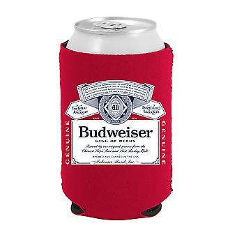 Budweiser Beer Bottle Label Can Cooler