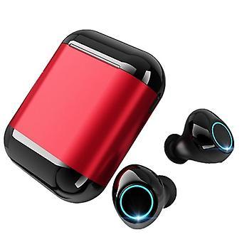Double bluetooth 5.0 tws dans l'oreillette à oreille smart touch imperméable à l'eau hifi oreillette stéréo avec boîte de charge portable
