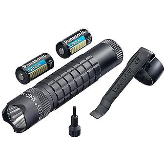 MAGLITE Mag-Tac LED Flashlight, 320 Lumens, Adjustable Beam, Black #SG2LRA6