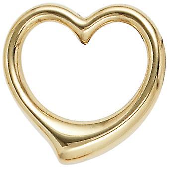 مقطورة الأطفال سوينغ المعلقات قلب الذهب الأصفر الذهب 333 القلب للأطفال