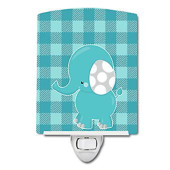 Carolines Aarteita BB6841CNL raidallinen elephant keraaminen yövalo