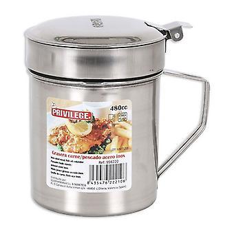 Pot d'huile pour viande ou poisson Privilège Acier inoxydable/950 cc