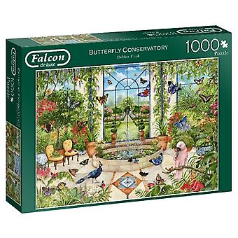 Falcon De Luxe Jigsaw Puzzle - Butterfly Conservatory, 1000 Piece